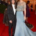 Caroline Trentini in Olivier Theyskens with Olivier Theyskens